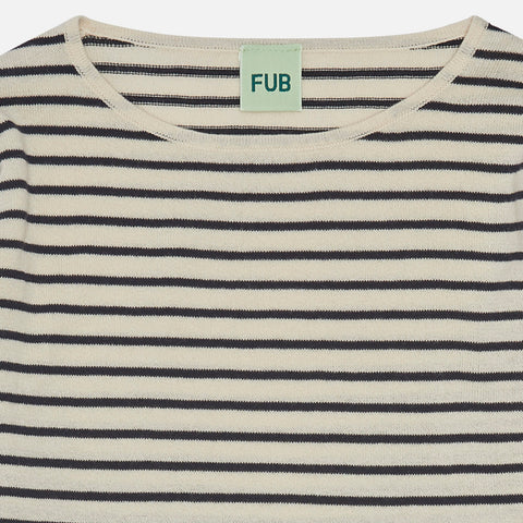 Organic Cotton Striped LS Top - Desert Sun