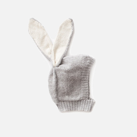 Alpaca Rabbit Hat - Grey