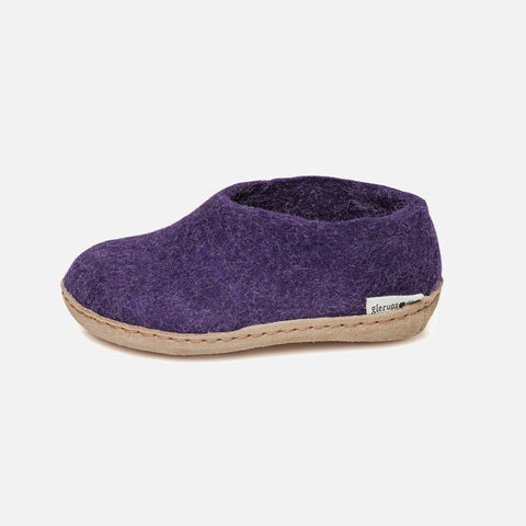 Felted Wool Slipper Shoe - Purple