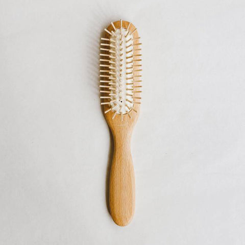 Wooden Hairbrush With Wooden Pins