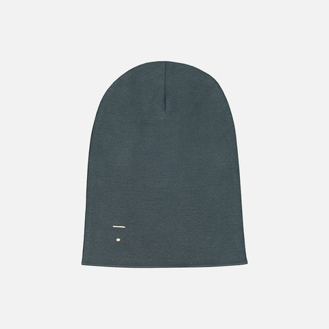 Organic Cotton Beanie - Blue Grey