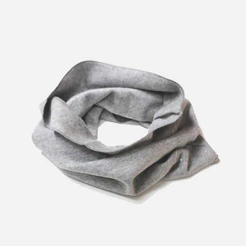 Organic Cotton Endless Scarf - Grey Melange