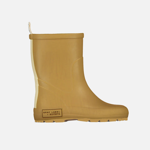 Natural Rubber Boots - Mustard