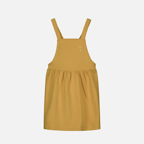 Organic Cotton Pinafore Dress - Mustard