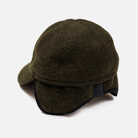 Wool Felt Cap - Forest Green