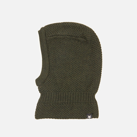 Knitted Merino Balaclava - Forest Green