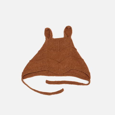 Baby Alpaca Rabbit Bonnet - Oak