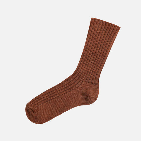Merino Wool Socks - Copper Melange