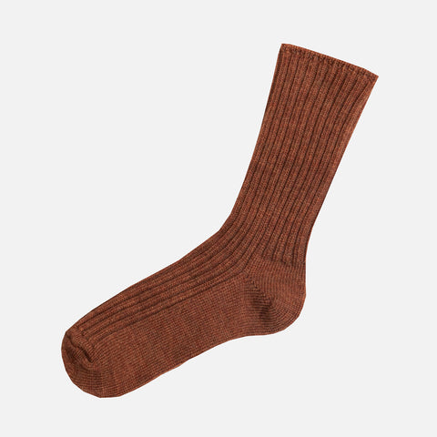 Adult Merino Wool Socks - Copper Melange