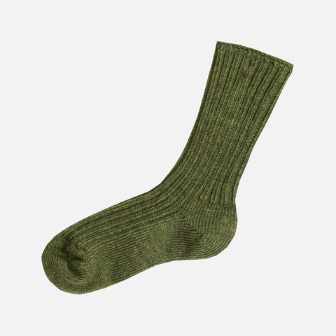Adult Merino Wool Socks - Moss Melange