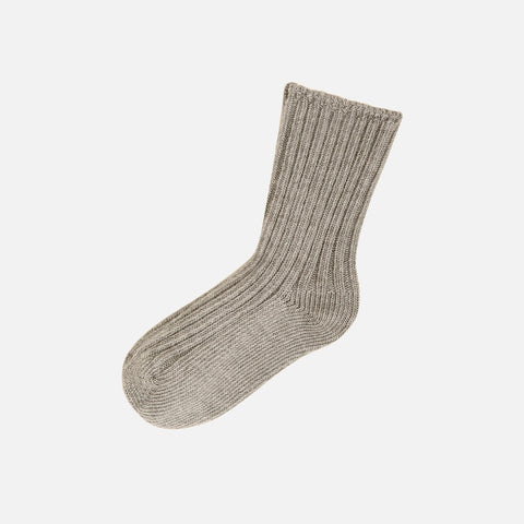 Adult Merino Wool Socks - Sand Melange