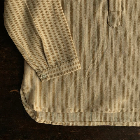 Exclusive Hand Woven Cotton Tulsi Shirt - Ochre Stripe