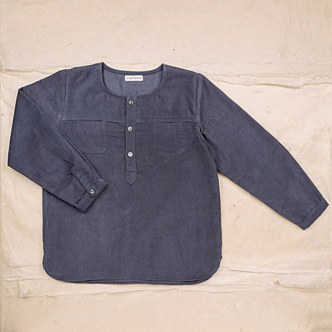 Cotton Corduroy Eole Shirt - Blue