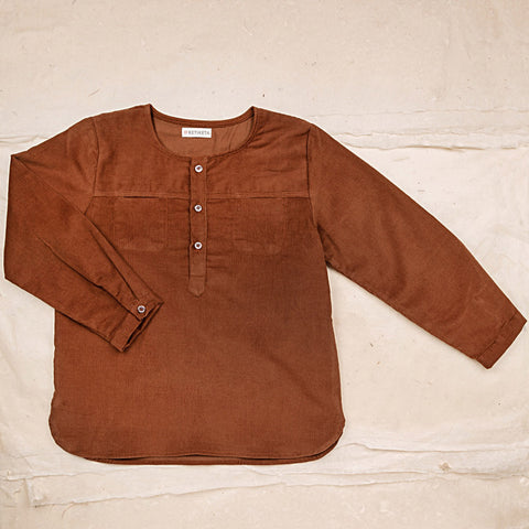 Cotton Corduroy Eole Shirt - Hazelnut