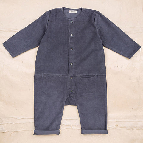 Cotton Corduroy Eole Overall - Blue