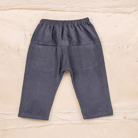 Cotton Corduroy Eole Baby Trousers - Blue