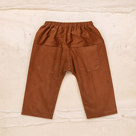 Cotton Corduroy Eole Baby Trousers - Hazelnut