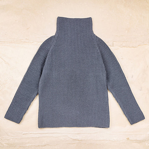 Wool Gabin Sweater - Blue
