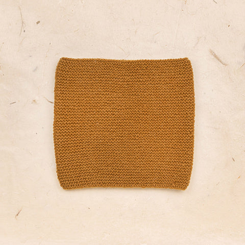Hand Knit Garter Stitch Snood - Sienna
