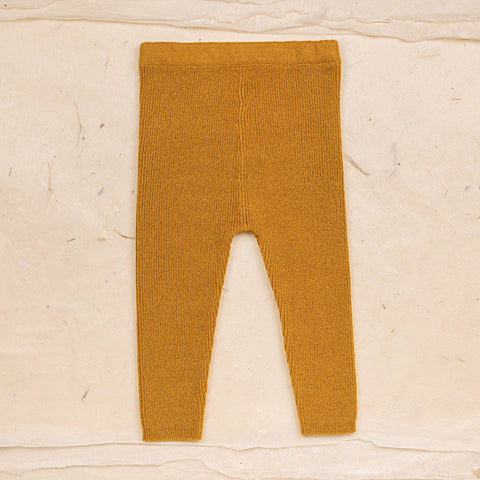 Wool Leggings - Ochre