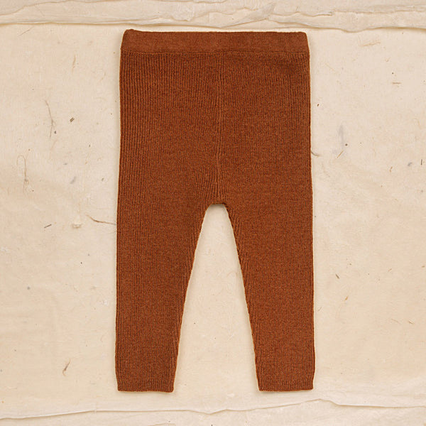Wool Leggings - Rust