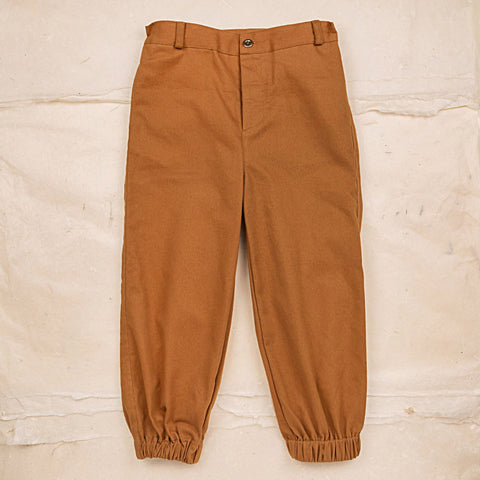 Cotton Twill Leo Trousers - Ochre
