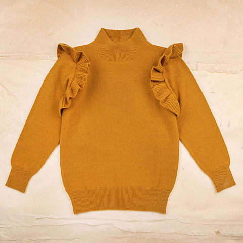 Wool Zoe Sweater - Ochre