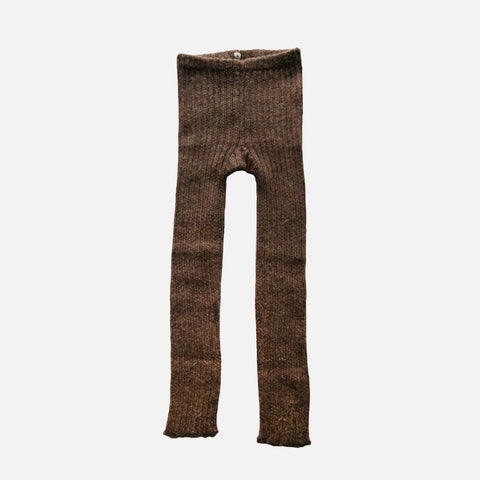 Alpaca Rib Leggings -Cocoa