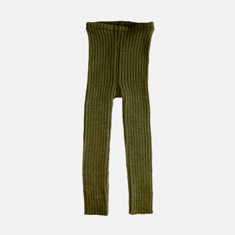 Alpaca Rib Leggings - Olive