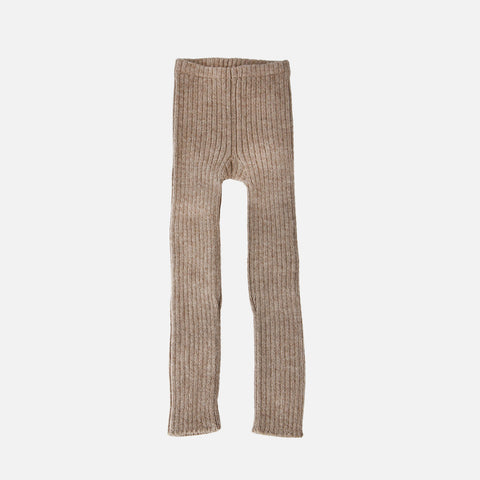 Alpaca Rib Leggings - Pebble