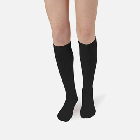 Adult's Cotton Knee Socks - Coal