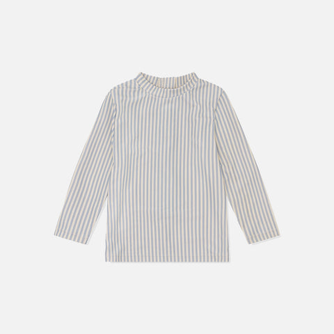 Long Sleeve UV Tee - Light Blue Stripe