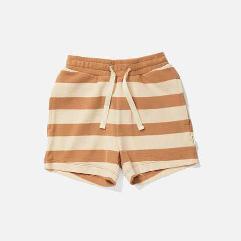 Cotton Lou Shorts - Biscuit Stripe