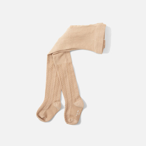 Organic Cotton Pointelle Tights - Moonlight