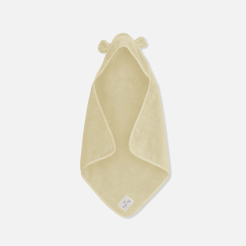 Organic Cotton Kid's Hooded Towel - Off White