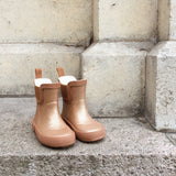 Welly Rubber Boots - Glitter Tan
