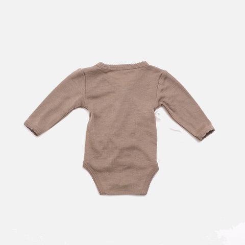 Organic Merino Wool Wrap Body - Taupe