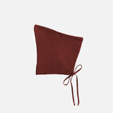 Merino Wool Sylfaen Pixie Bonnet - Redwood