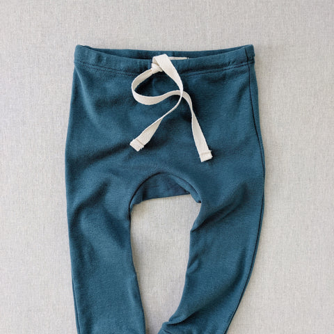 Organic Cotton Leggings - Azure