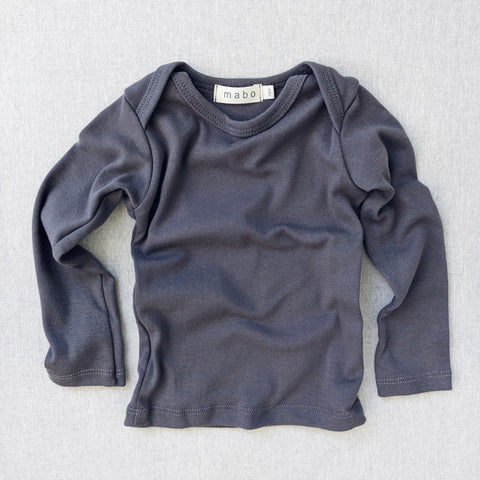 Organic Cotton LS Lap Tee - Graphite