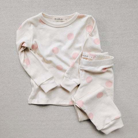 Organic Cotton Spotted Pyjamas - Pink