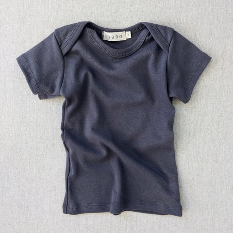Organic Cotton SS Lap Tee - Graphite