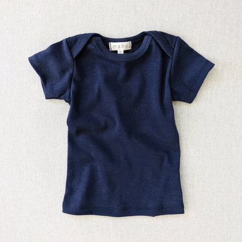 Organic Cotton SS Lap Tee - Midnight Blue