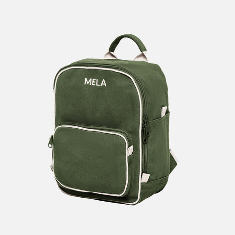 Organic Cotton Mela II Mini Backpack - Olive Green