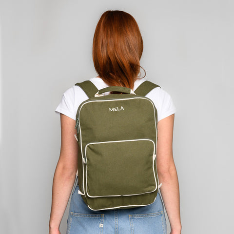 Organic Cotton Mela II Backpack - Olive Green