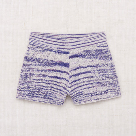 Cotton Chevron Shorts - Blue Space Dye