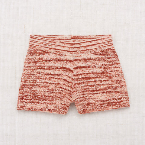 Cotton Chevron Shorts - Vintage Brown Space Dye