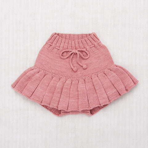 Hand Knit Cotton Skating Pond Skirt - Rose Blush