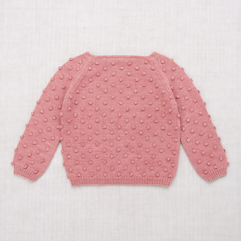 Hand Knit Cotton Summer Popcorn Sweater - Rose Blush