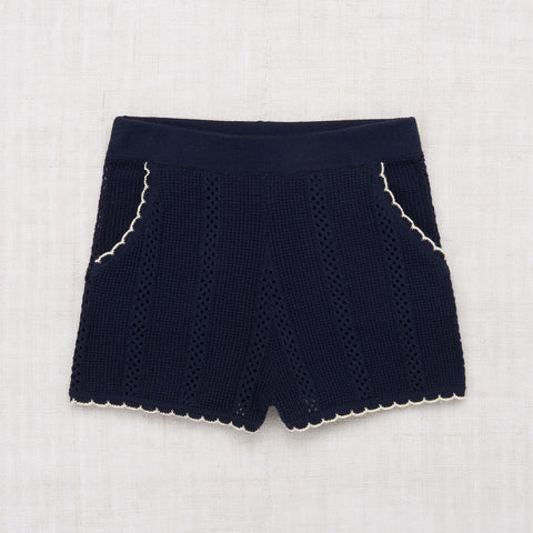 Cotton Texture Shorts - Maritime Blue